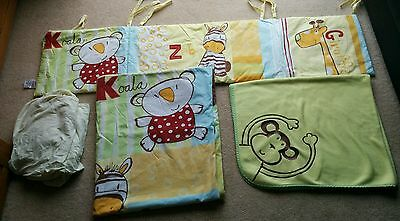 Baby cot bedding bundle Animal Yellow Design by Next