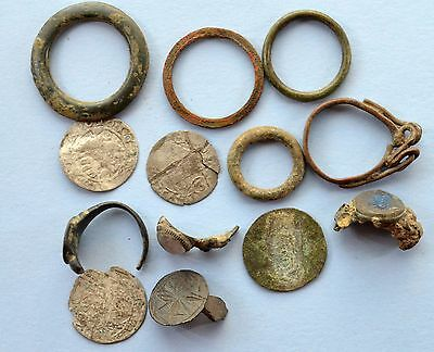 Medievil Viking Period Parts of Jewelery & coins
