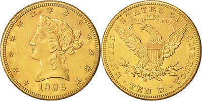 [#450340] United States,Coronet Head,$10,1906,San Francisco,KM 102