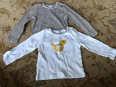 Baby Boys 2 X Long Sleeve Tops From John Lewis Age 6-9 Months