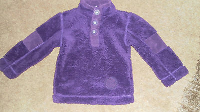 Boys Girls Regatta Fleeces Ages 3-4 Purple with elbow pads in vgc button up neck