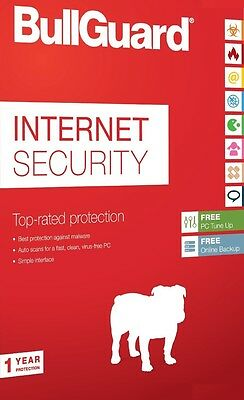 BullGuard Internet Security 2016 1 PC, 1 Year LATEST DOWNLOAD VERSION (NO DVD)