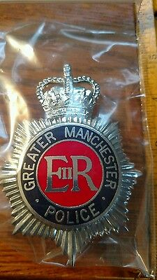 Greater manchester Police Helmet Plate Badge