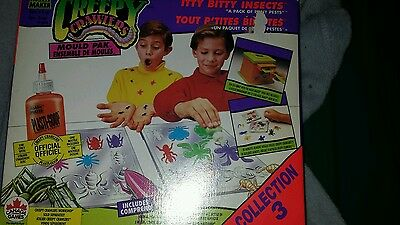 creepy crawlers set itty bitty insects rare set with goop