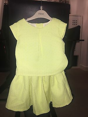 Next 2 Piece Outfit Yellow Skirt And Top 2-3