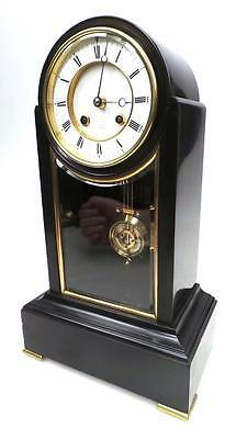 Antique Regulator 8Day French Marble/Slate Bell Striking Mantel Clock Dent Paris
