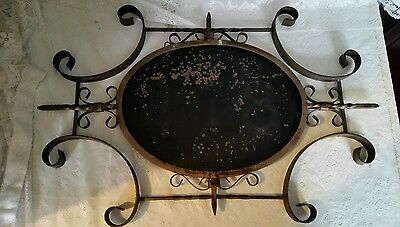 Wrought Iron Scrolled Scroll Work Sign Frame