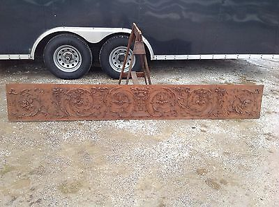antique architectural salvage Oak Carved Frieze Great Carvings Fruit Dolphins