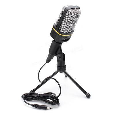 MSN Skype Singing Recording 3.5 mm Condenser Microphone Mic For Laptop