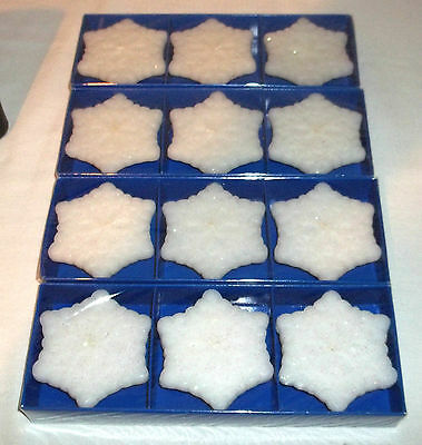 Lot Of 12 Snowflake Floating Candles