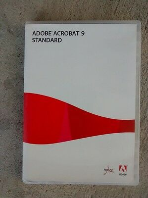 Adobe Acrobat 9 Standard for Windows Retail Edition Perfect Condition