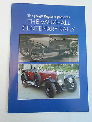 The 30-98 Register Presents The Vauxhall Centenary Rally