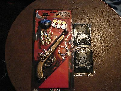 Pirate Adventure Set And 2 Scull And Crossbone Bandanna's