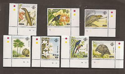 Seychelles 2004 Flora & Fauna Surcharges  Mnh Set Of Stamps