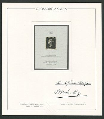 Gb Uk #1 Reprint Upu Congress 1984 Official Delegate Gift ! Extremely Rare !!