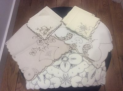 Vintage Linen - Napkins and Tablemats/Traycloths