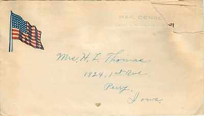 Lettre Cover US Mail Perry Iowa Militaria