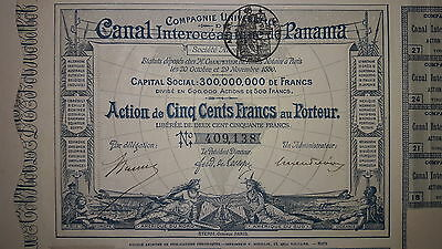 Panama Canal Zone French Company Bearer Bond Share Scripophily Series 1880 Rare!
