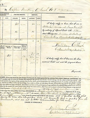 35th U S COLORED TROOPS CIVIL WAR PAY VOUCHER FOR OFFICER AND BLACK SERVANT 1865
