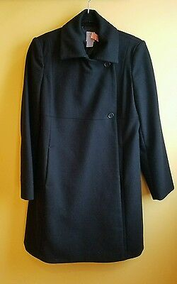 *excellent* Gap Maternity Winter Wool Wrap Coat Work Jacket Black Size S Dressy