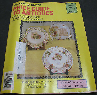 The Antique Trader Price Guide To Antiques February 1989 Calendar Plates +