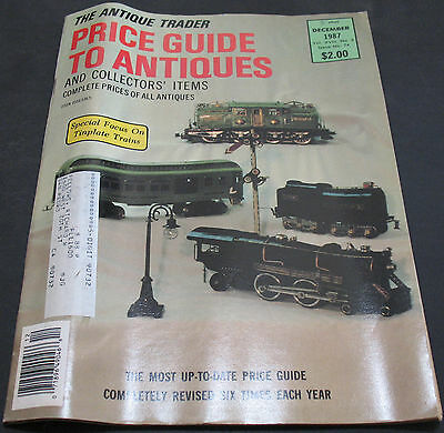The Antique Trader Price Guide To Antiques December 1987 Tinplate Trains +