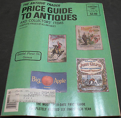 The Antique Trader Price Guide To Antiques February 1987 Games +++