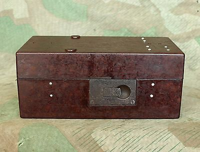 Original WW2 Relic German Army Bakelite Tools Case / Box for Carbide Lamp Latern