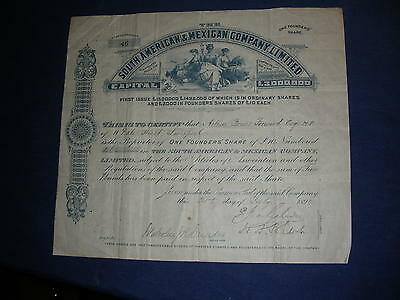 MEXICO: South American & Mexican Company Ltd, 1890