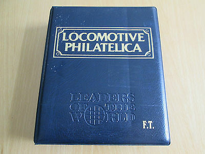 Locomotive Philatelica Album With 109 Stamps Of Trains From 1804 To 1983