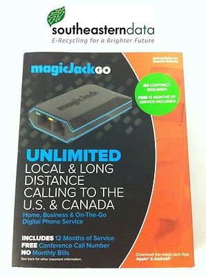 MagicJack Go Wi-Fi Internet Calling Unlimited Long Distance Phone Service In Box