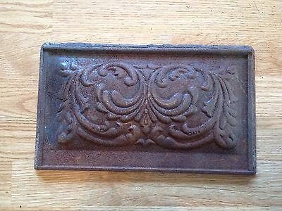 "Antique CAST IRON Stove Part Ornate Decorative Altered Art 12 3/4"" x 7 1/2"""