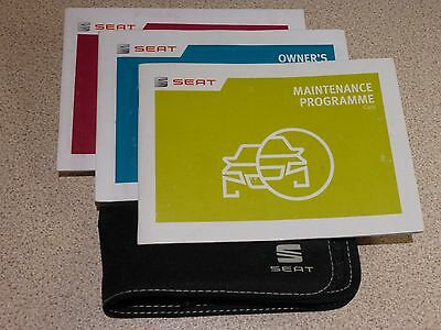 Seat Ibiza Handbook Pack Including Blank Service Book 2014