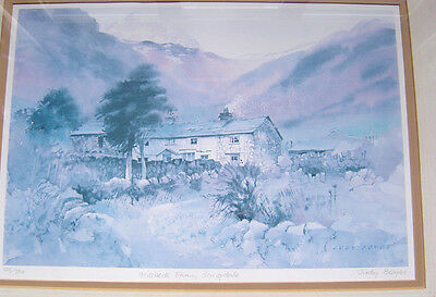 Millbeck Farm, Langdale by Judy Boyes -- Signed & Framed Limited Edition Print.