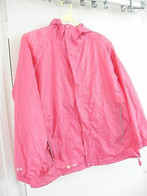 Girls cagoule, pink, breathable, waterproof, windproof in carry bag age 11-12