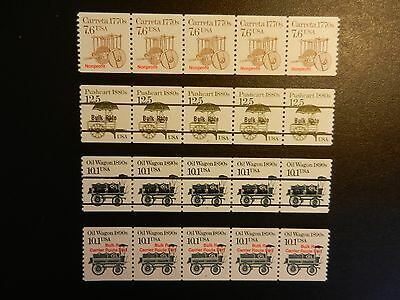 Lot Of Four (4) All Different Pnc5, Mnh, Og, F-Vf.