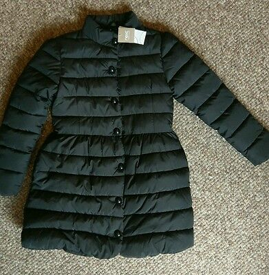 Gorgeous Black Padded Coat with Part Fleece Lining NEXT age 9-10 BNWT
