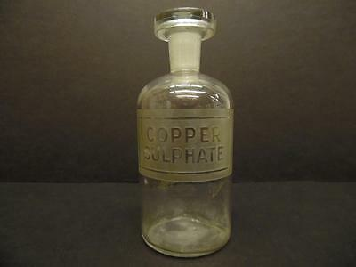 Vintage Copper Sulphate Glass Laboratory Apothecary Reagent Bottle (#3)