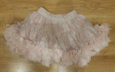 Girls party NEXT signature range age 6 years pink silver tutu skirt