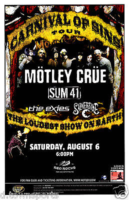 MOTLEY CRUE Carnival of Sins Tour 2005 - Red Rocks 11x17 Show Poster / Gig Flyer