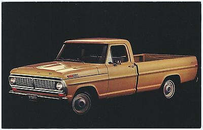 1970 Ford Trucks F-100 BASIC PICKUP Original Dealer Promotional Postcard VG+ ^