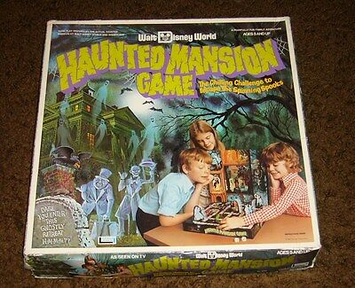 Vintage Walt Disney World HAUNTED MANSION BOARD GAME Theme Park Mystery Game