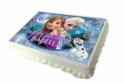 Frozen Themed A4 Edible Real Icing Cake Topper