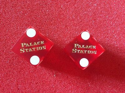 Palace Station Las Vagas Casino Dice x 2 Collectable Casino