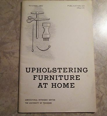 Vintage University of Tennessee College Upholstering Furniture at Home Booklet