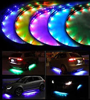 Lychee 7 Color LED Under Car Glow Underbody System with Neon Lights Kit w/Sound