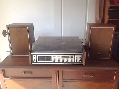 Vintage Retro Sanyo Record Cassette Tape Player Radio Stereo System Working