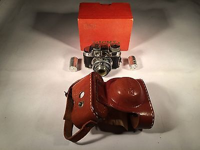 Vintage Toko Mighty Miniature Occupied Japan Camera w/ Leather Case with FILM