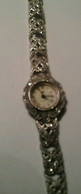 Sterling silver marcasite ladies watch. 925. Japanese movement