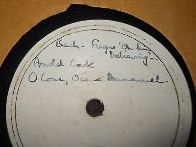 Test Pressing Lp Bach Fugue Arnold Cook O Come Emmanuel Vaughan Williams Praise